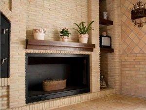 M s de 25 ideas incre bles sobre chimeneas de ladrillo for Hogares a lena rusticos