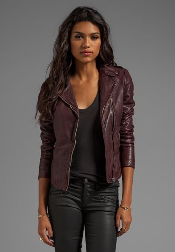 Muubaa Carmona Biker in Oxblood - perfect color, perfect cut, perfect details.  $624 not so perfect price.