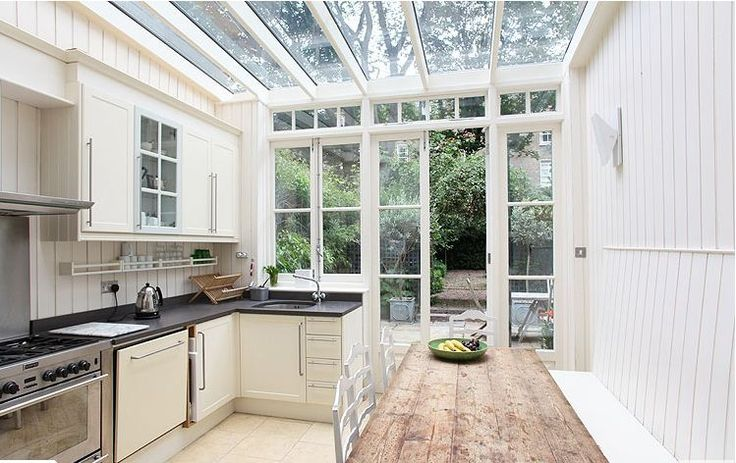 COCOCOZY: A FAB GLASS ENCLOSED KITCHEN IN A LONDON HOME!
