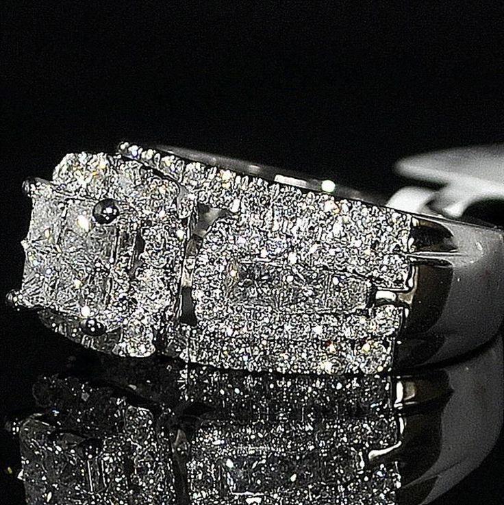 Big Wedding Rings Best Photos: 17 Best Ideas About Princess Cut Diamonds On Pinterest