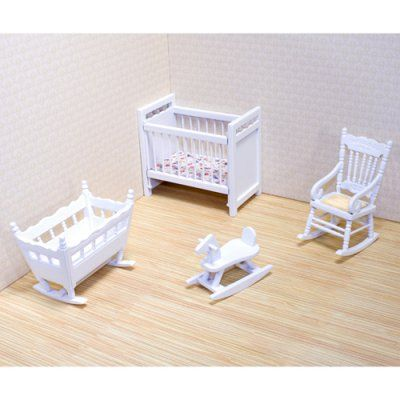Melissa and Doug Victorian Nursery Furniture Set - 1 in. Scale - 2585