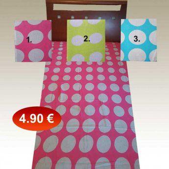 Πικέ κουβέρτα μονή 160Χ230 βαμβακερή σε 3 διάφορα χρώματα