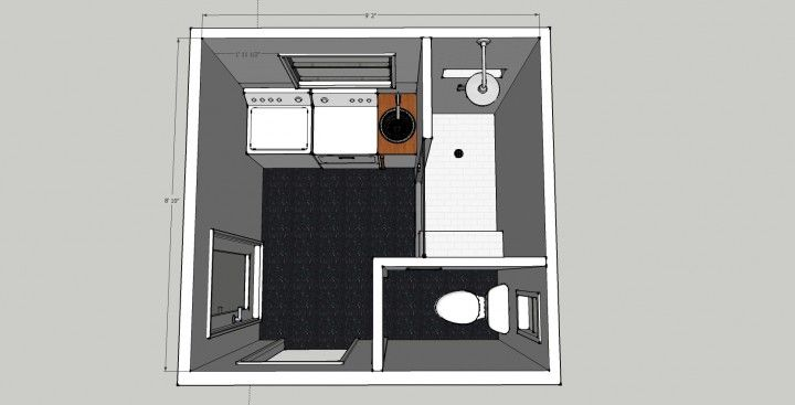 Seriously considering doing a small reno to make a laundry for Small bathroom laundry designs