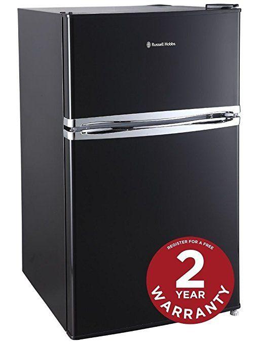 Russell Hobbs RHUCFF50B 50cm Black Under Counter Fridge Freezer - 2 Year Warranty