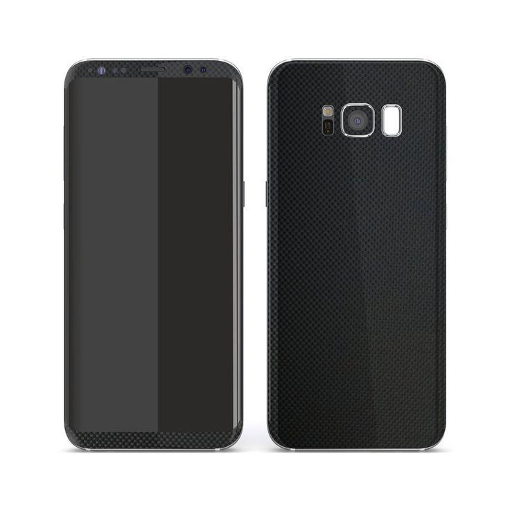 Samsung Galaxy S8  PLUS MICRO 3D CARBON Fibre Skin - BLACK