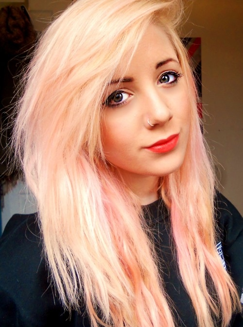 Blonde Hair With Pink 104