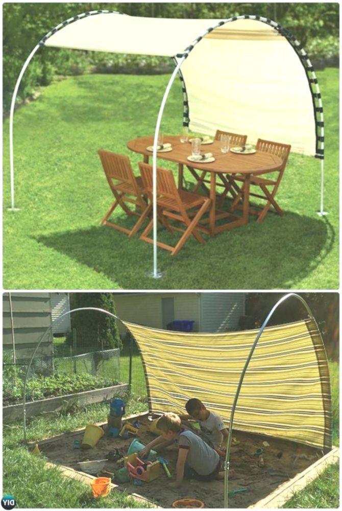 DIY PVC-Baldachin-Schatten -20 PVC-Rohr DIY-Projekte für Kinder #Crafts – Diy P…