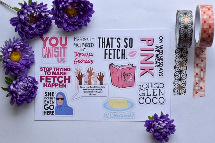 Mean girls stickers (pack of 10) | laptop sticker | binder stickers | decorative stickers | quote stickers | Lindsay Lohan by MarvellousStickers on Etsy https://www.etsy.com/listing/251663762/mean-girls-stickers-pack-of-10-laptop