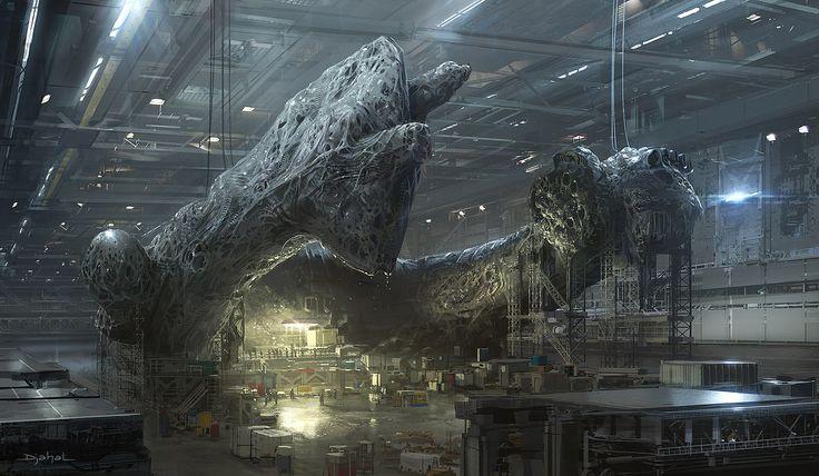 ArtStation - 2014   Concept art   Film project   Alien5   Neill Blomkamp   Factory, Geoffroy Thoorens