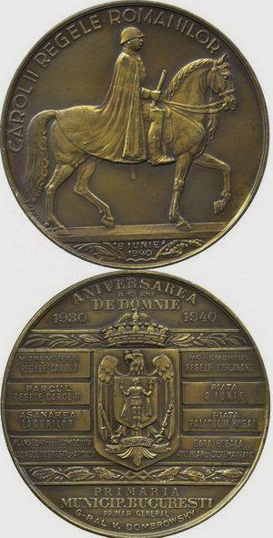 Carol II - Regele românilor 8 iunie 1940 Aniversarea a 10 ani de domnie 1930 - 1940  Monumentul Regele Carol I Parcul Regele Carol II