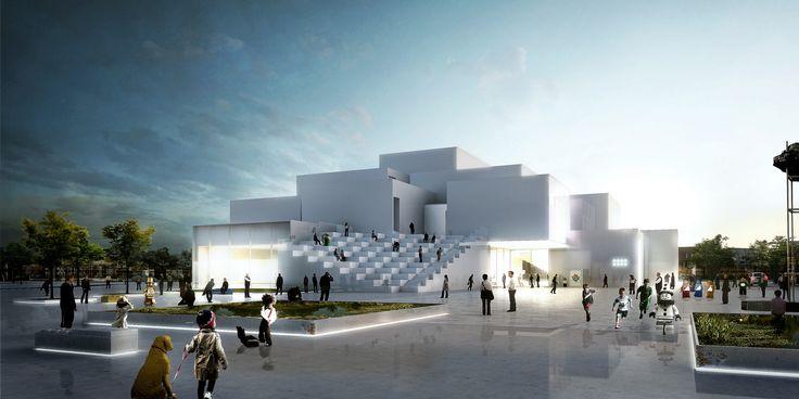 Bjarke Ingels pone el ladrillo fundacional de la Casa LEGO