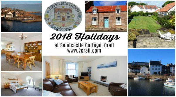 Late availability short breaks, weekend breaks, midweek breaks or weekly breaks at Sandcastle Cottage Crail