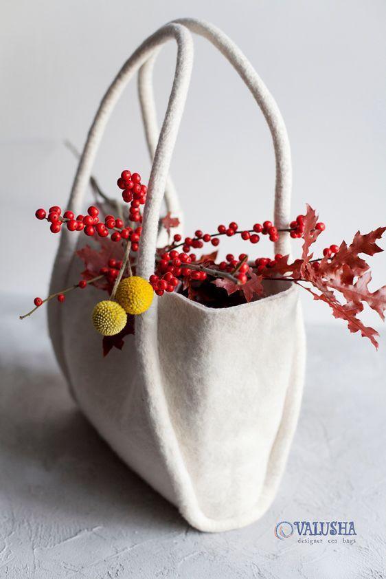Купить Сумка валяная корзина «ОБЛАКО для АНГЕЛА» - валяная сумка, valusha, весна, стильная сумка