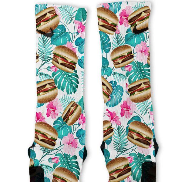 Cheeseburger Paradise Custom Nike Elite Socks