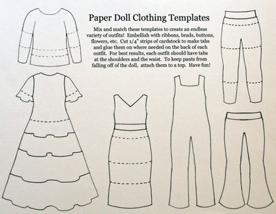 Paper Doll Template | and here are the paper doll clothing ...