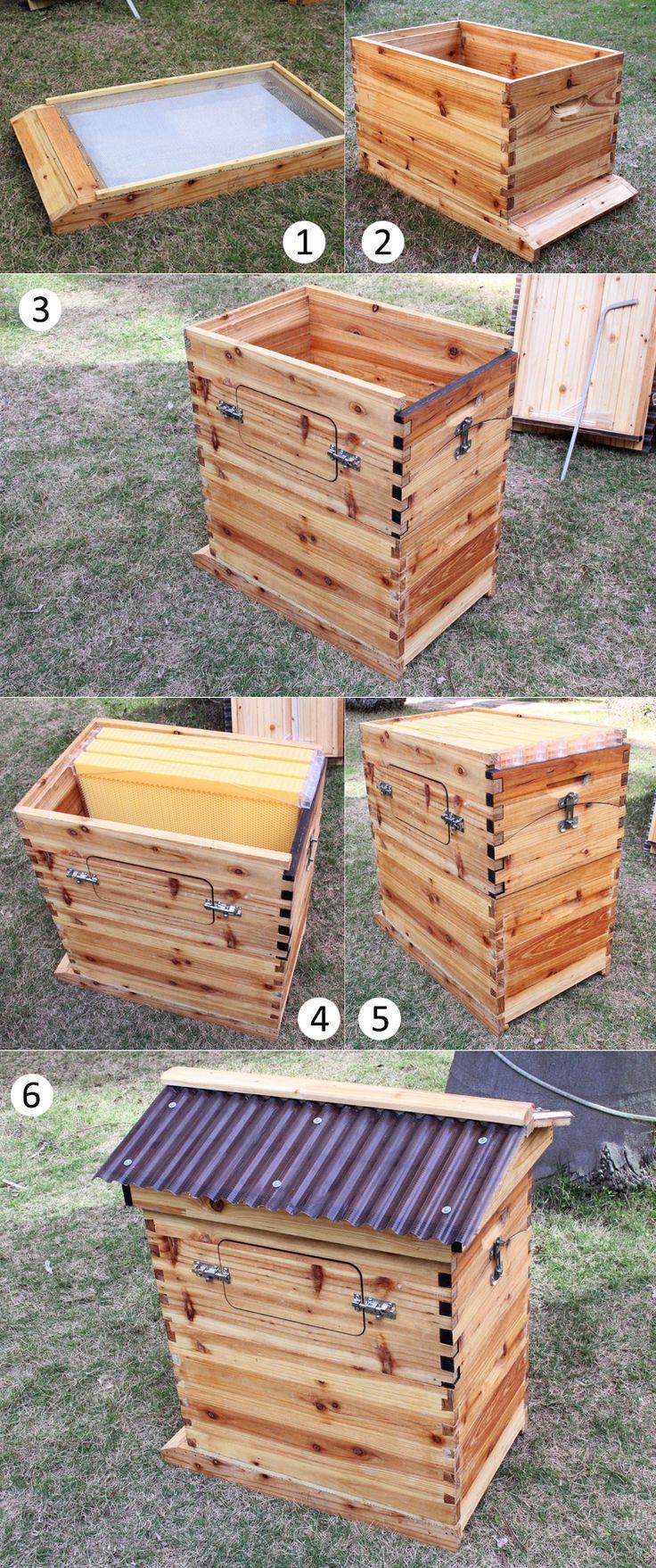 フローハイブ安全な自動ハチミツ採取巣箱 ハニカムボード Flow Hive