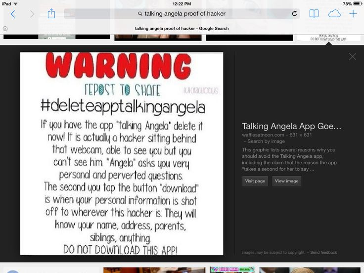 how to delete talking angela