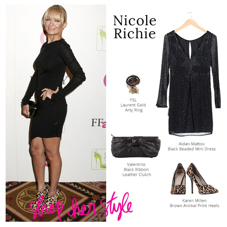 Style dari Nicole Richie ini bisa di jadiin rekomendasi Ladies untuk ke night party atau acara resmi. Let's shoop her look Ladies!