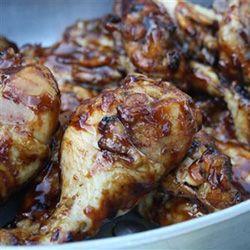 Sticky chicken for the braai