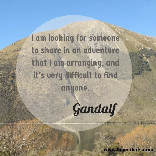 I am looking for someone to share in an adventure that I am arranging, and it's very difficult to find anyone. #Gandalf #Hobbit