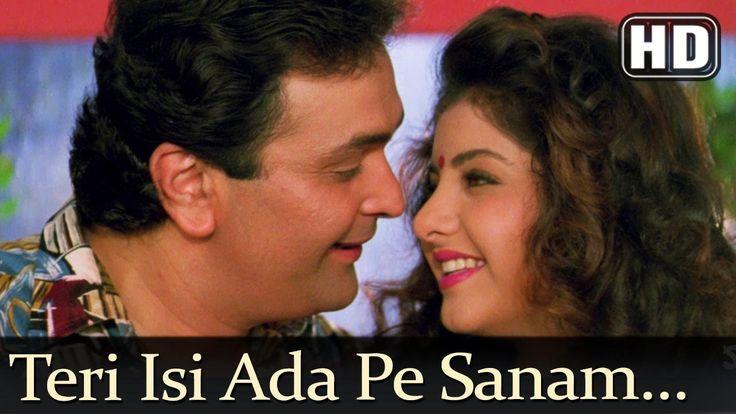 Teri Isi Ada Pe Sanam (HD) - Deewana Song - Shahrukh Khan - Rishi Kapoor - Divya Bharti - YouTube