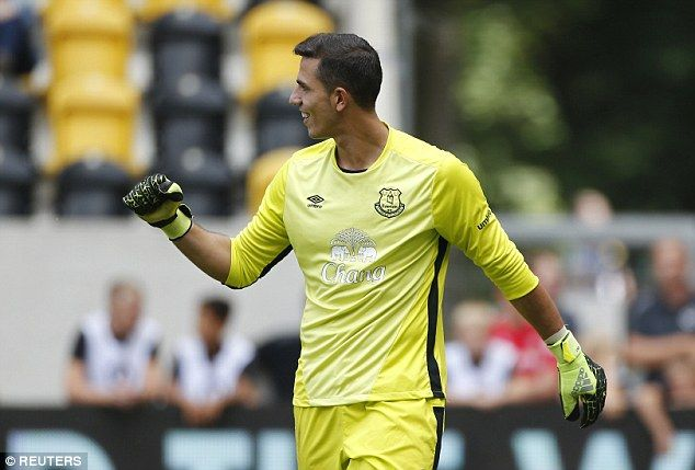Joel Robles pumps his fist after saving  Betis' first penalty but his joy was short-lived...