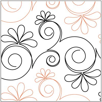 "Chantilly © 2014  Patricia E. Ritter & Leisha FarnsworthA single row is 12"" wide – printed with one row – 144"" long * This design is available in both paper and digital.  Please select your preference below. NOTE:   All digital designs include the following conversions:  CQP, DXF, HQF, IQP, MQR, PAT, QLI, SSD, TXT, WMF and 4QB or PLT. Most designs also include a DWF, GIF and PDF. This pattern was converted by Digitech."