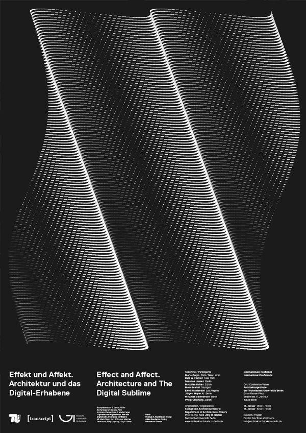 Poster for Das Digital Erhabene (TU Berlin)