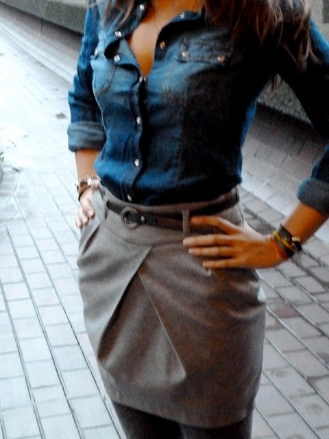 Already have the denim shirt and a similar skirt - cute combo to keep in mind!