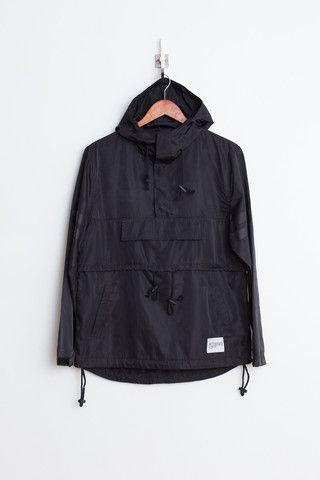 Profound Aesthetic Kangaroo Pouch Pullover Windbreaker: Black http ...