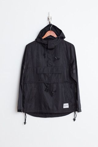 Profound Aesthetic Kangaroo Pouch Pullover Windbreaker: Black http://profoundco.com/collections/jackets/products/kangaroo-pouch-pullover-windbreaker-black