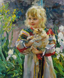 Cat by Elena Salnikova.