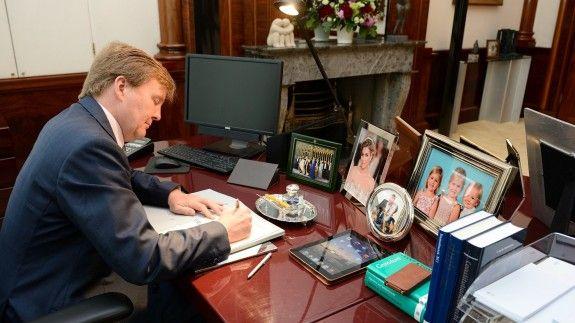 Paleis Noordeinde - Werkkamer koning Willem-Alexander
