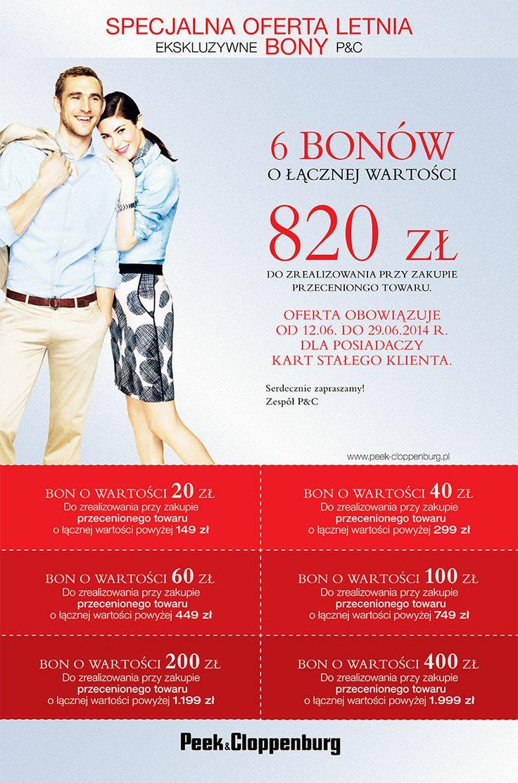 Akcja kuponowa w @Peek & Cloppenburg  #promocja #zniżki #rabaty #kupony #bony
