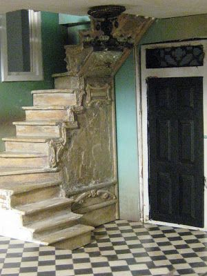 This posting is about 2 things;  a) how I made the tile floors for VILLA LEONE  and b) how my staircase turned out. I hope to enc...