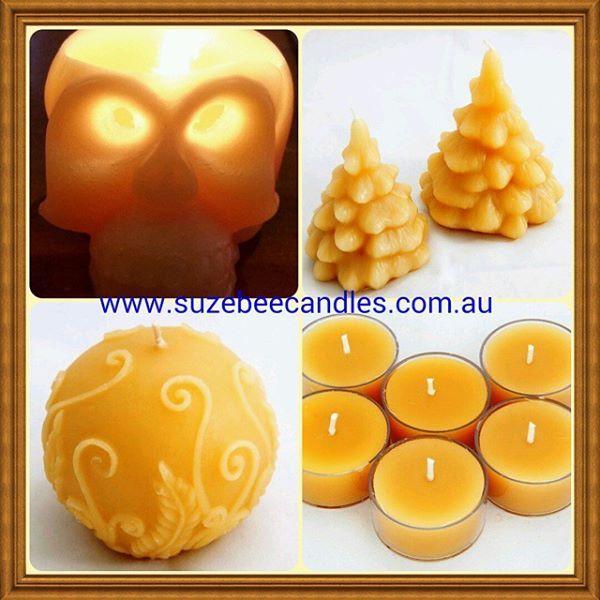 #BeeswaxCandles #AustralianMade #Skulls #TeaLights #FernBall #ChristmasTrees