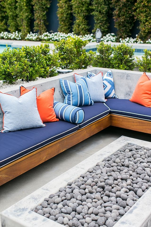 outdoor built in sectional outdoor built in sectional with sunbrella rh pinterest ca