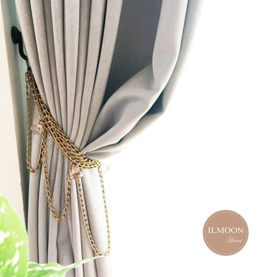 Pairx2 Vintage Curtain Tie Backs Glam Curtain Tiebacks Etsy