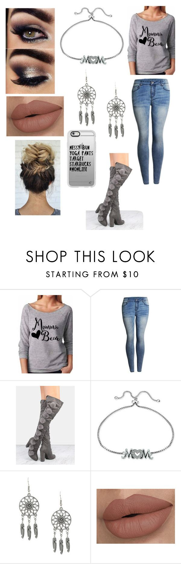 """""""Being a casual mom"""" by shirowland ❤ liked on Polyvore featuring Giani Bernini, Casetify, men's fashion and menswear"""