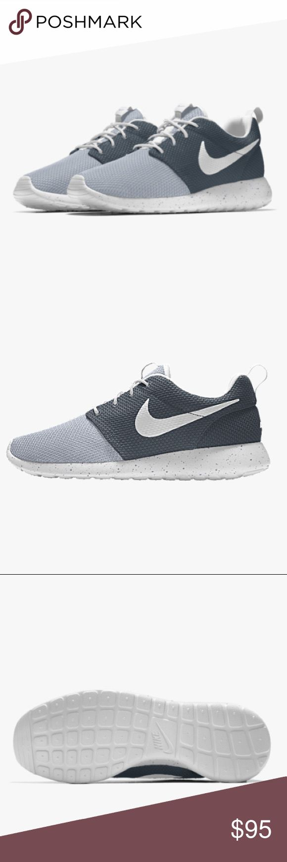 Custom Nike Roshe One iD women's Shoe Custom Nike Roshe One iD women's Shoe   I made these Nikes but unfortunately don't fit. They have been worn twice and are still in great shape just like brand new. Nike Shoes Athletic Shoes