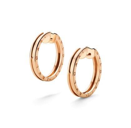 Bvlgari B.zero1 pink gold hoop earrings - BVLGARI - Featured Designers - Fine Jewelry