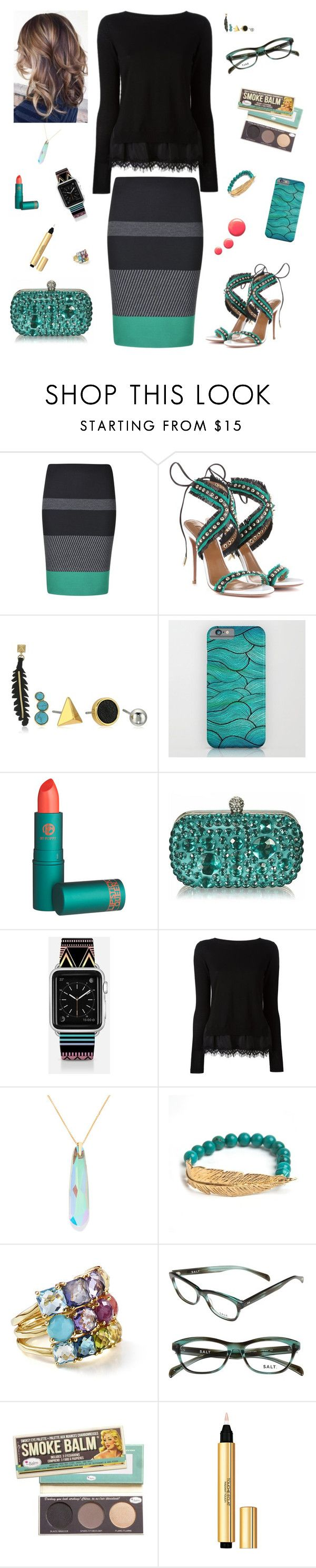 """""""Office Dinner Party"""" by runsonblackcoffee on Polyvore featuring BOSS Hugo Boss, Aquazzura, Rebecca Minkoff, Lipstick Queen, Casetify, Alex and Ani, LeiVanKash, Ippolita, Yves Saint Laurent and Topshop"""