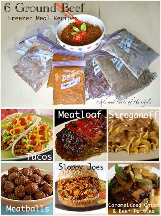 PERFECT! Fast and super easy! Double the recipe and freeze half for next time! 6 Ground Beef Freezer Meal Recipes