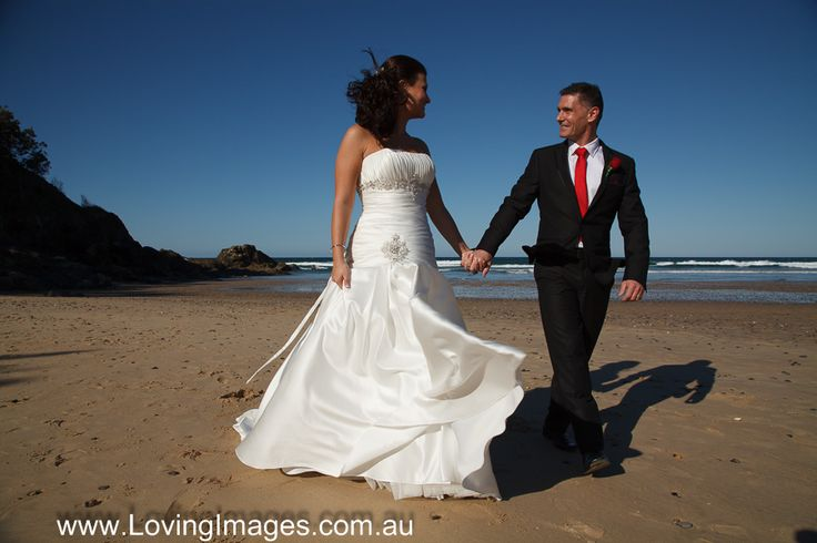 Rebbecca & Mark Just married having eloped at Diggers Beach Coffs Harbour with one of Loving Images elopement packages.