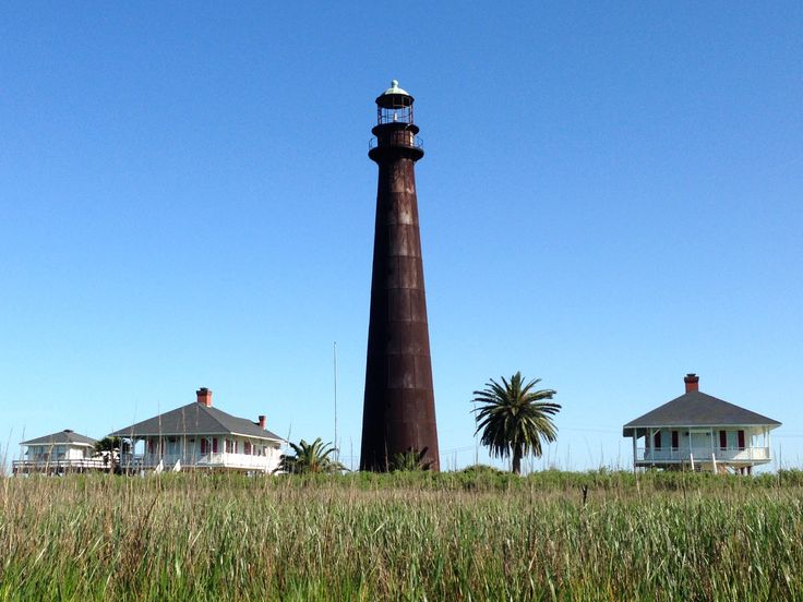 Bolivar Lighthouse in Port Bolivar Texas on Bolivar Peninsula. The first thing you'll see when you unload off the Bolivar Ferry or on your way to load up. Mariners from years ago used the Light House to guide them into the Houston Ship Channel. A must photo location as the sunsets!!!