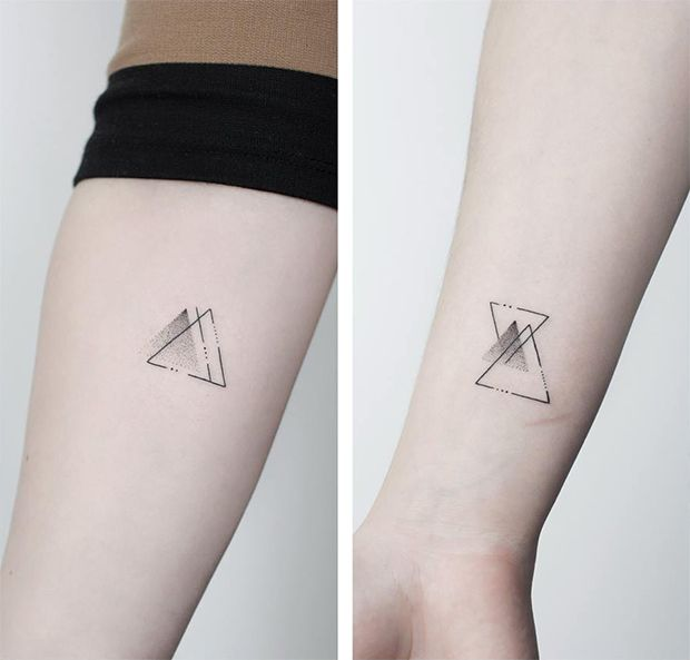 #tattoofriday - Jabuk Nowicz: tatuagens minimalistas, linhas finas e pontilhismo - geométrico;