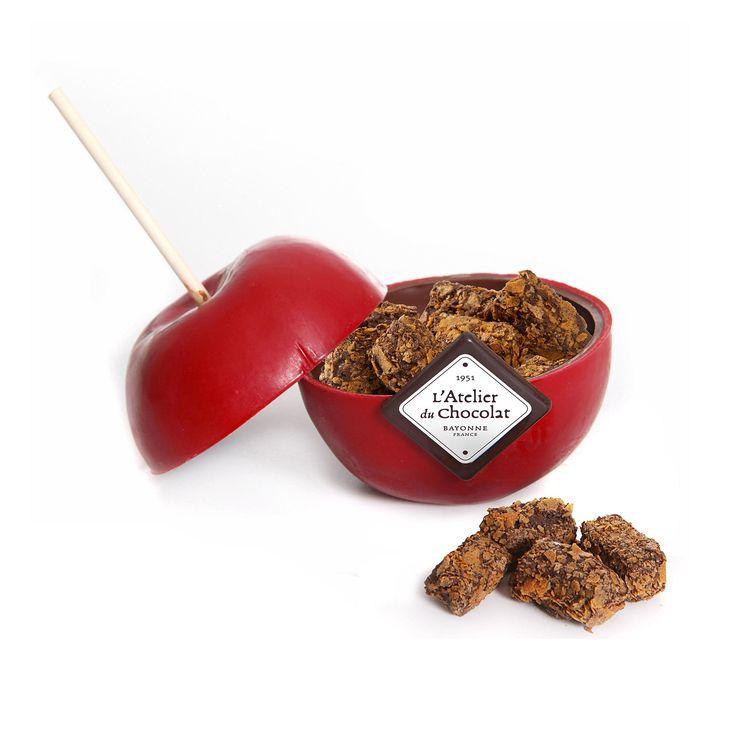 """Menu de la Saint-Valentin : du chocolat """"pomme d'amour"""" L'Atelier du chocolat, 12,90€"""