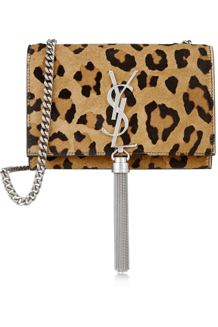 Saint Laurent | Monogramme small leopard-print calf hair and leather shoulder bag | NET-A-PORTER.COM