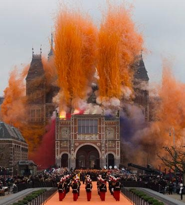 April 2013. Museum in Amsterdam's re-opening ceremony