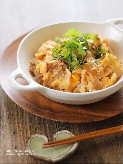 レシピ】アレンジいろいろ♡レンジで牛肉と筍の卵とじ丼。 by るぅさん ...